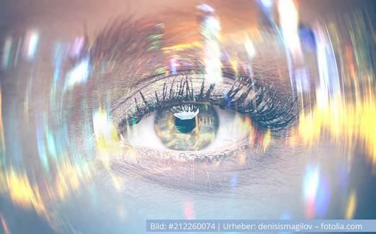 buntes Auge, Reflexion, Reflektieren